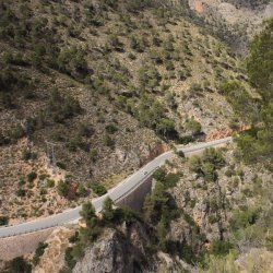 Carretera hacia Ayna, Albacete