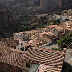 Vista hacia la carretera en Ayna, Albacete