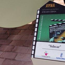 Placa sobre película filmada en Ayna, Albacete