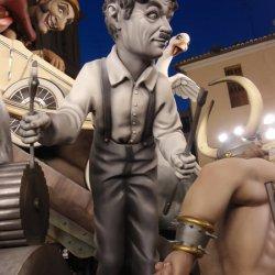 Músico en las Fallas de Valencia