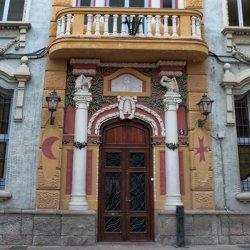 Edificios en la ciudad de Novelda en la provincia de Alicante