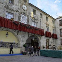 Plaza de España en la ciudad de Novelda en Alicante