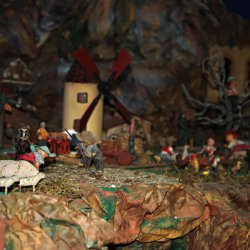 """Escena de """"belén"""" en la exposición en Novelda de Alicante"""