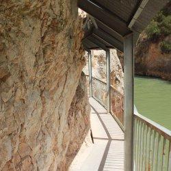 Galería en el Cañón del río Mundo en Albacete