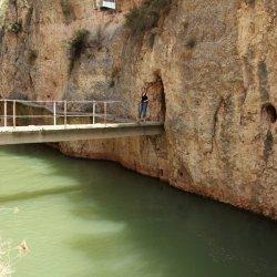 Una de nosotros en el Cañón del río Mundo en Albacete