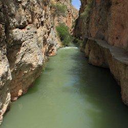 Vistas en el Cañón del río Mundo en Albacete