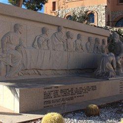 Estela en el Santuario de Santa María Magdalena en Novelda de Alicante