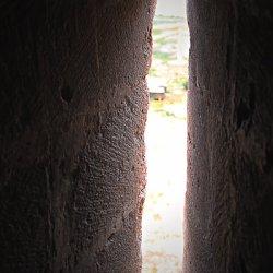 Troneras del Castillo en el cerro Mola en Novelda de Alicante