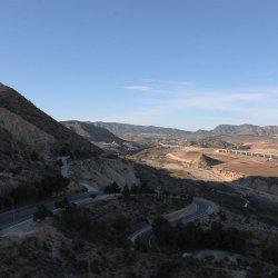 Vistas del Castillo en el cerro Mola en Novelda de Alicante