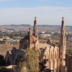 Vista al Santuario de Santa María Magdalena en Novelda de Alicante