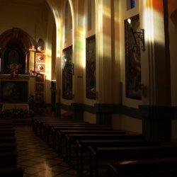 Interior del Santuario de Santa María Magdalena en Novelda de Alicante