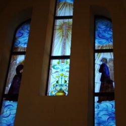 Vidrieras acabadas en el Santuario de Santa María Magdalena en Novelda de Alicante