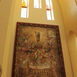 Paredes en el Santuario de Santa María Magdalena en Novelda de Alicante