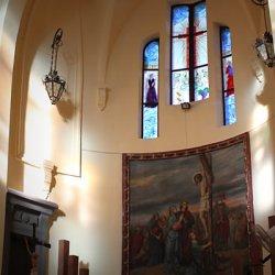 Cúpulas luminosas del Santuario de Santa María Magdalena en Novelda de Alicante