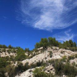Nubes en la zona de Las Minas en Albacete