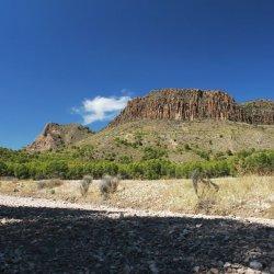 Montañas en las cercanías de Cancarix de Albacete