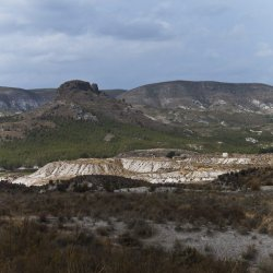 Minas en los alrededores del pueblo Las Minas en Albacete