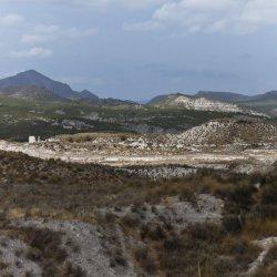 Minas de azufre en los alrededores del pueblo Las Minas en Albacete