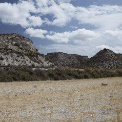 Paisajes marcianos en los alrededores del pueblo Las Minas en Albacete