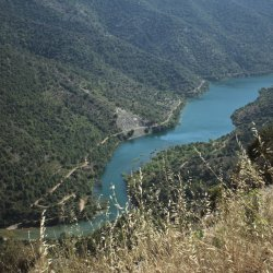 Vista del embalse de Siurana