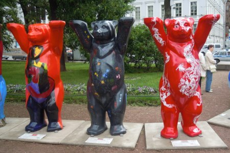 На выставке Buddy Bears. Санкт-Петербург, 2012 год